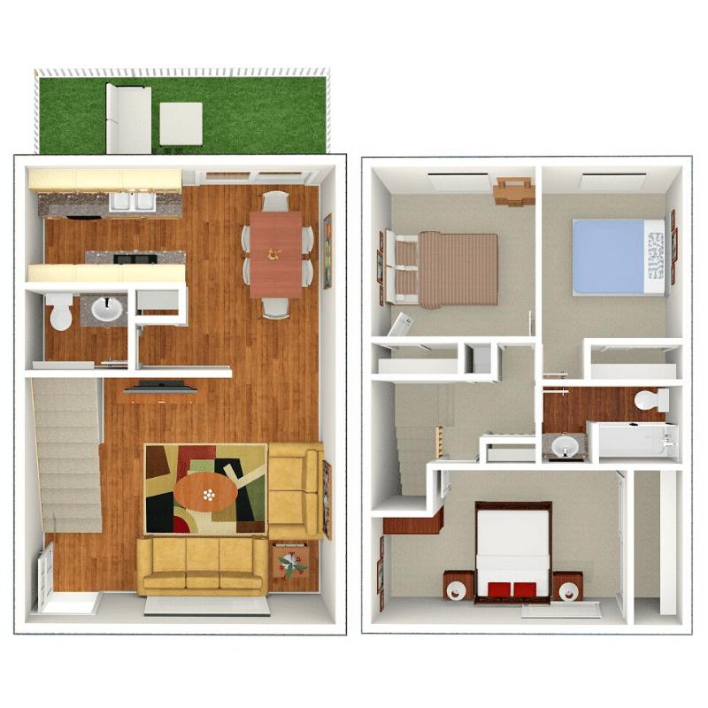 3 BEDROOM, 1.75 BATHROOM Floor plan