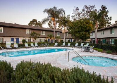 Pool view on Yorba Linda Pines