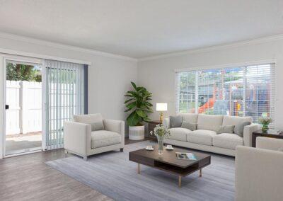 Furnished living room at Yorba Linda Pines