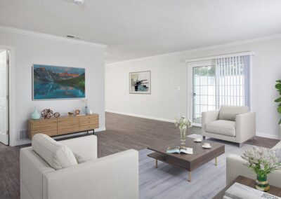 Furnished view of a living room in Yorba Linda Pines
